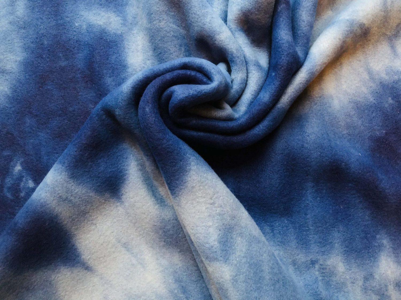 Tie Dye Blue Fleece