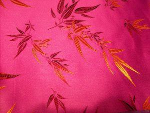 Magenta Bamboo Brocade